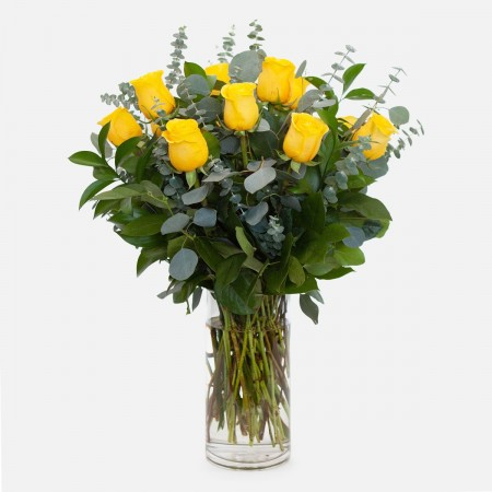 1-Dozen Yellow Roses