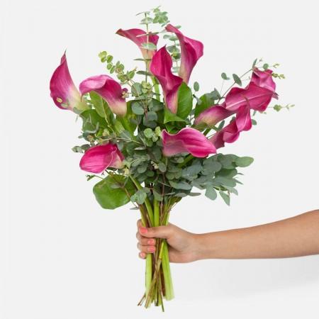 Dark Pink Calla Lily Bouquet