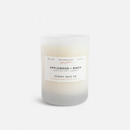 Applewood + Birch Scented Soy Candle