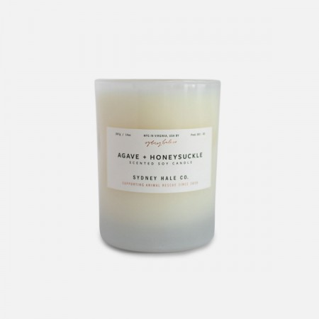 Agave + Honeysuckle Scented Soy Candle