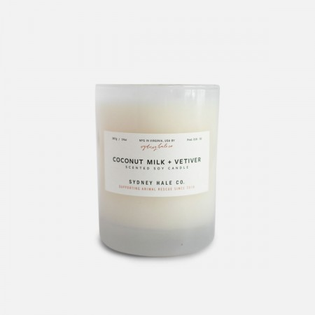 Coconut Milk + Vetiver Scented Soy Candle