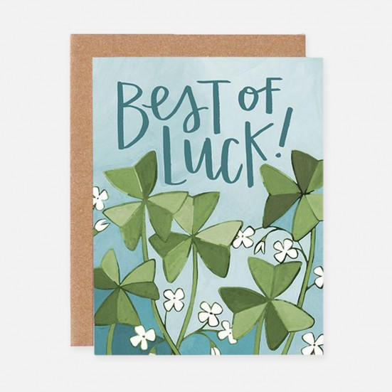 Best of Luck Clover Card Home & Lifestyle