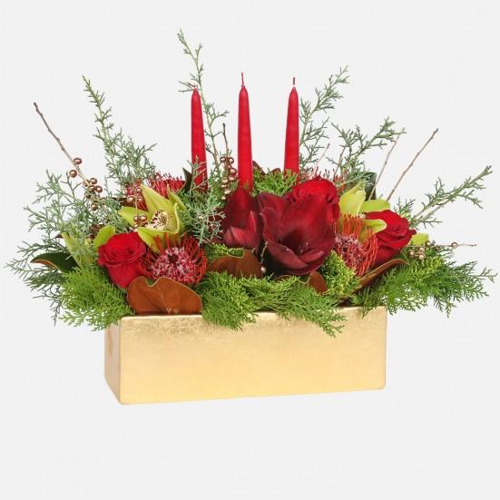 Joyeux Noel - Roses Protea Amaryllis Orchids - PlantShed.com