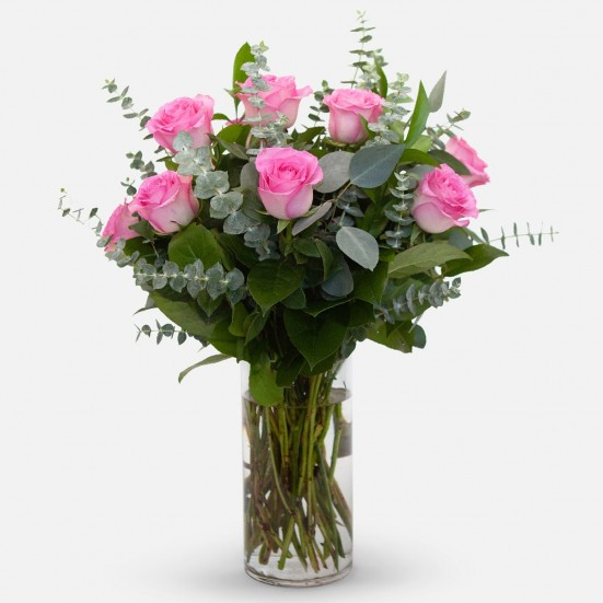 1-Dozen Pink Roses Flower Delivery in New Jersey