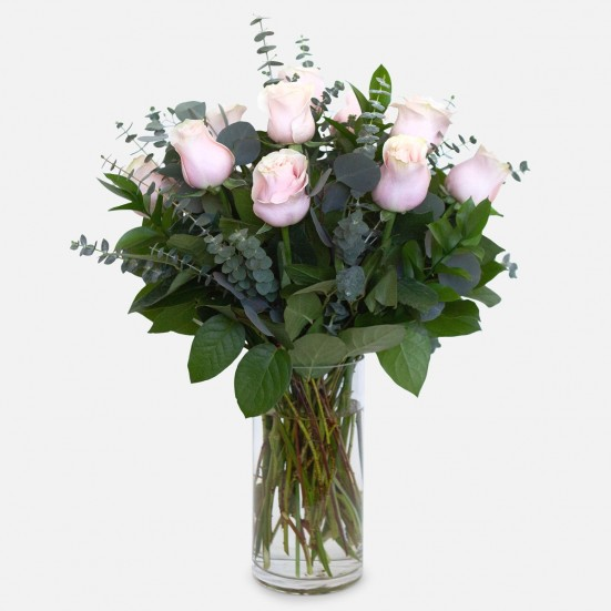 1-Dozen Soft Pink Roses Just Because