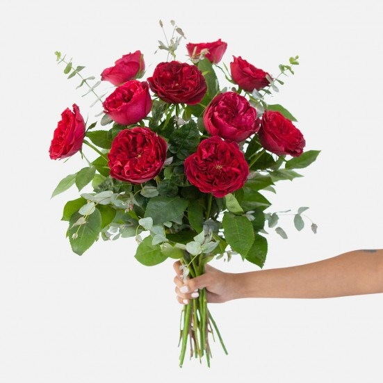Red Garden Rose Bouquet Flowers