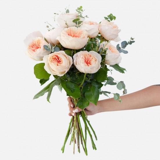 Blush Garden Rose Bouquet Flowers