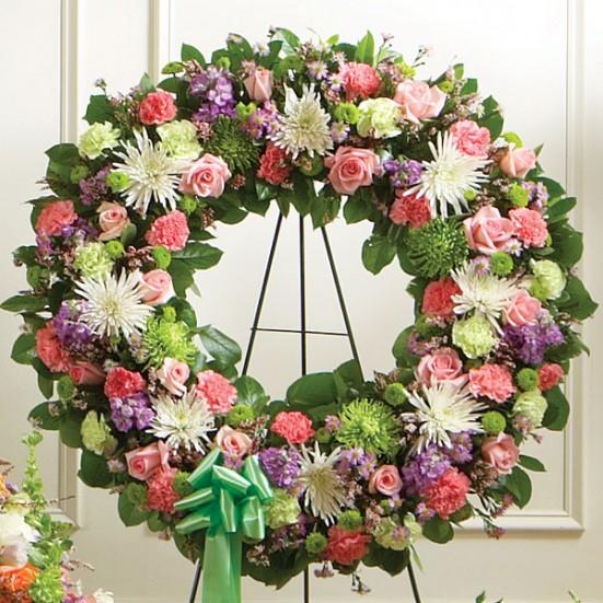 Sympathy Wreath Pastel Sympathy