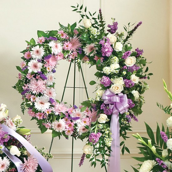 Serene Blessings Standing Wreath - Lavender - plantshed.com