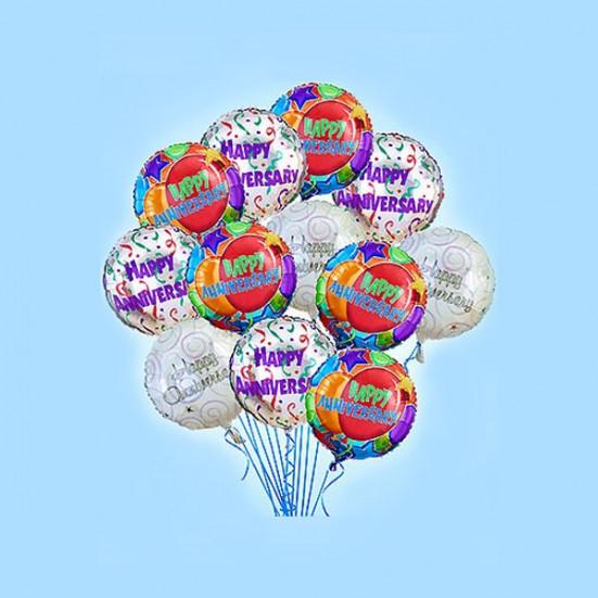 Happy Anniversary (half dozen) Balloons