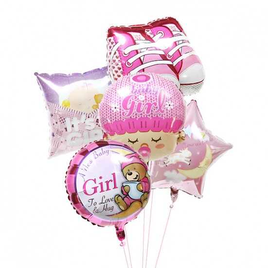 New Baby Girl Balloons New Baby