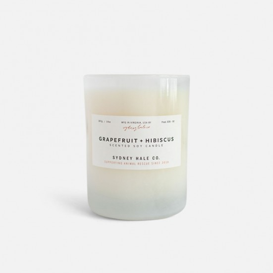 Grapefruit + Hibiscus Scented Soy Candle Birthday
