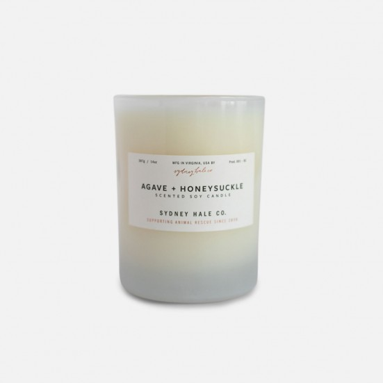 Agave + Honeysuckle Scented Soy Candle Admin's Week