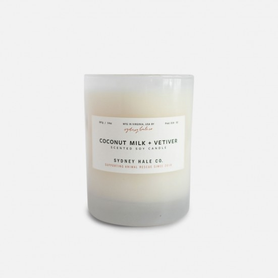 Coconut Milk + Vetiver Scented Soy Candle Home & Lifestyle