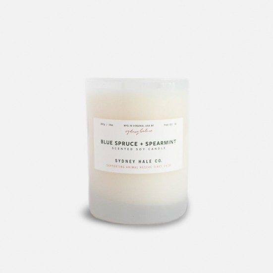 Blue Spruce + Spearmint Scented Soy Candle Christmas Shop