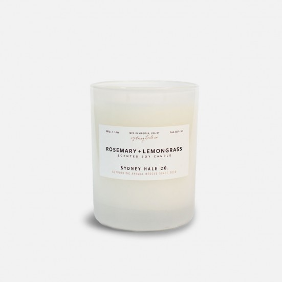 Rosemary + Lemongrass Scented Soy Candle Mother's Day