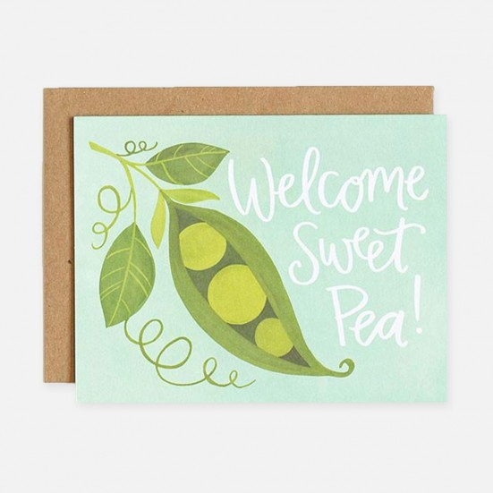 Sweet Pea Baby Card Home & Lifestyle