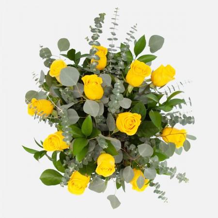 1-Dozen Yellow Roses