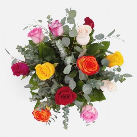 1-Dozen Multicolor Roses