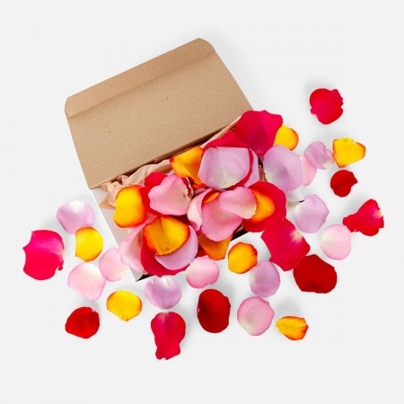 Mulitcolor Rose Petals Box