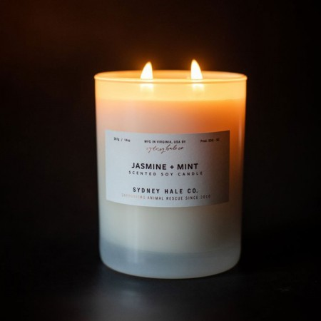 Jasmine + Mint Scented Soy Candle