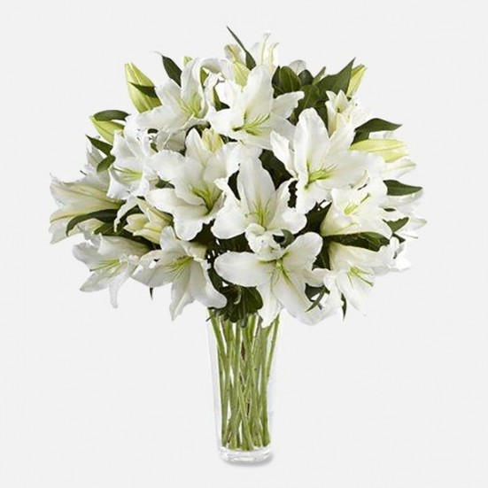 White Lilies Flower Delivery in New Jersey