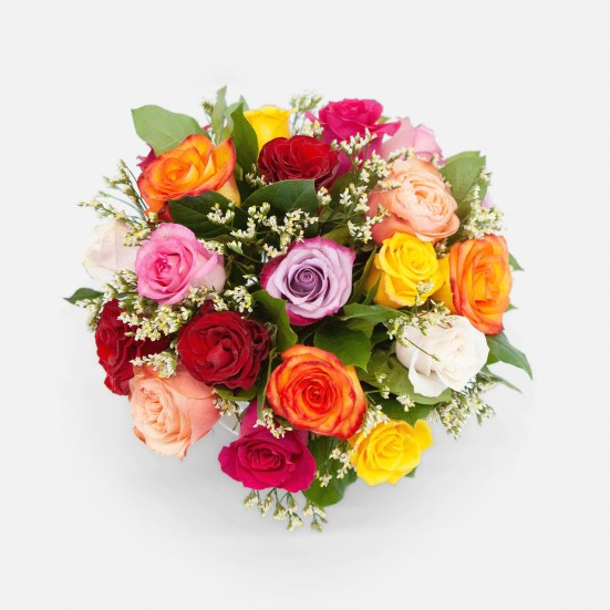 Multicolor Rose Garden Flower Delivery in New Jersey