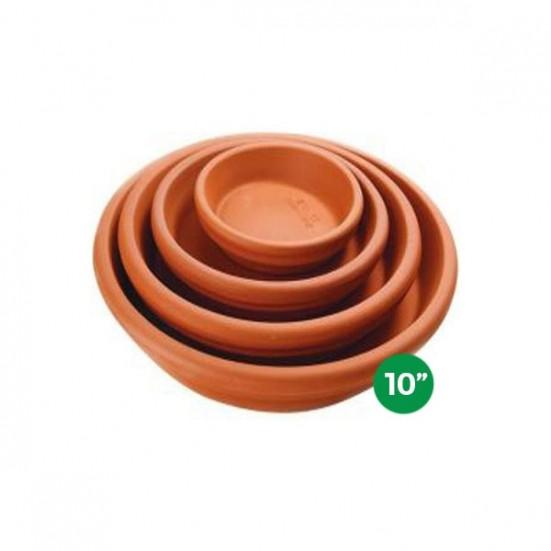 Terra Cotta Saucer - 10'' Pottery