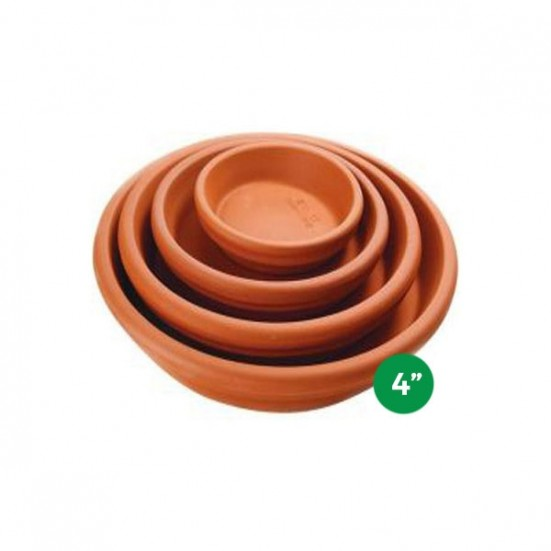 Terra Cotta Saucer - 4'' Pottery