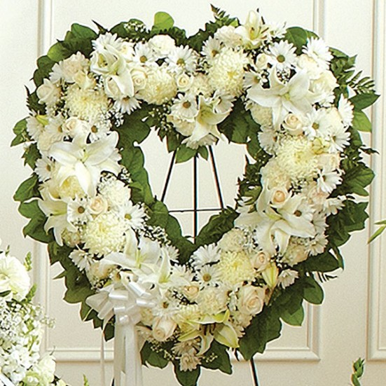 Always Remember Floral Heart Tribute Sympathy & Funeral