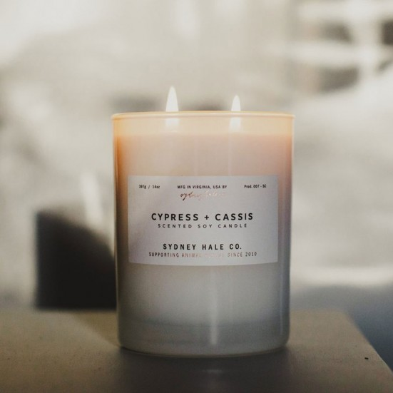 Cypress + Cassis Scented Soy Candle Mother's Day