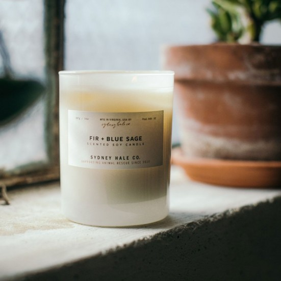 Fir + Blue Sage Scented Soy Candle Mother's Day