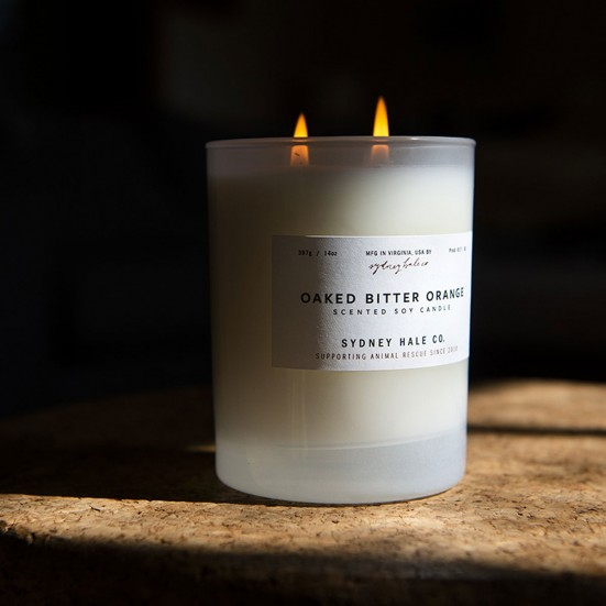 Oaked Bitter Orange Scented Soy Candle Mother's Day