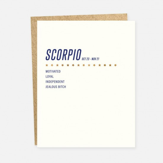 Scorpio Card Home & Lifestyle