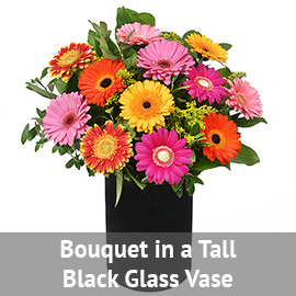 Bouquet in a Tall Clear Glass Vase | Flower Delivery NYC Florist | Plantshed.com
