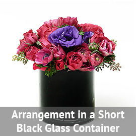 Arrangement in a Round Clear Glass Container | Flower Delivery NYC Florist | Plantshed.com